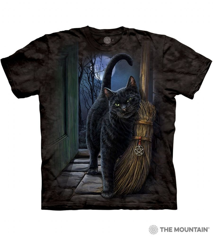 A Brush With Magic - Adult Black Cat T-shirt - The Mountain®